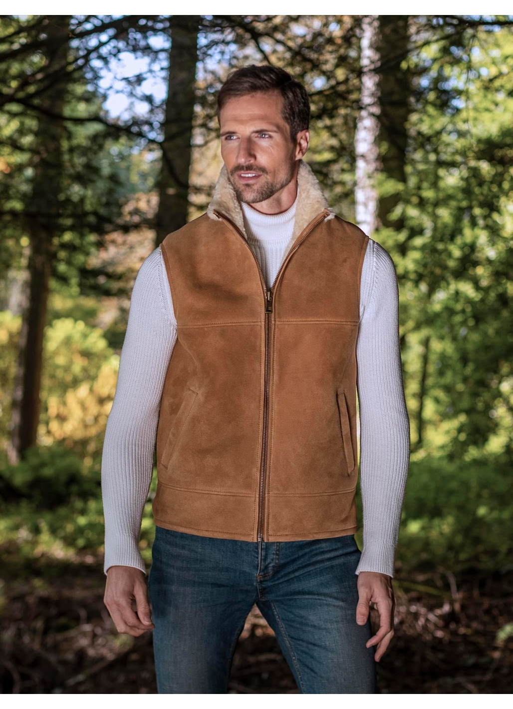 Codale Premium Sheepskin Gilet in Tan