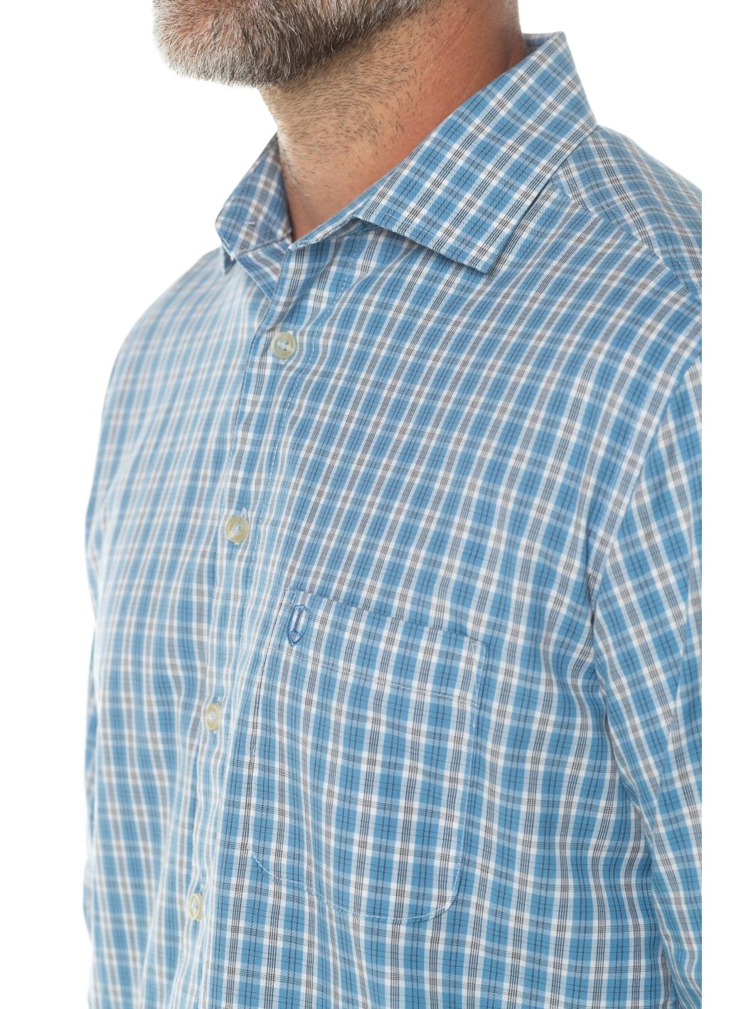 Travis Long Sleeve Shirt in Light Blue