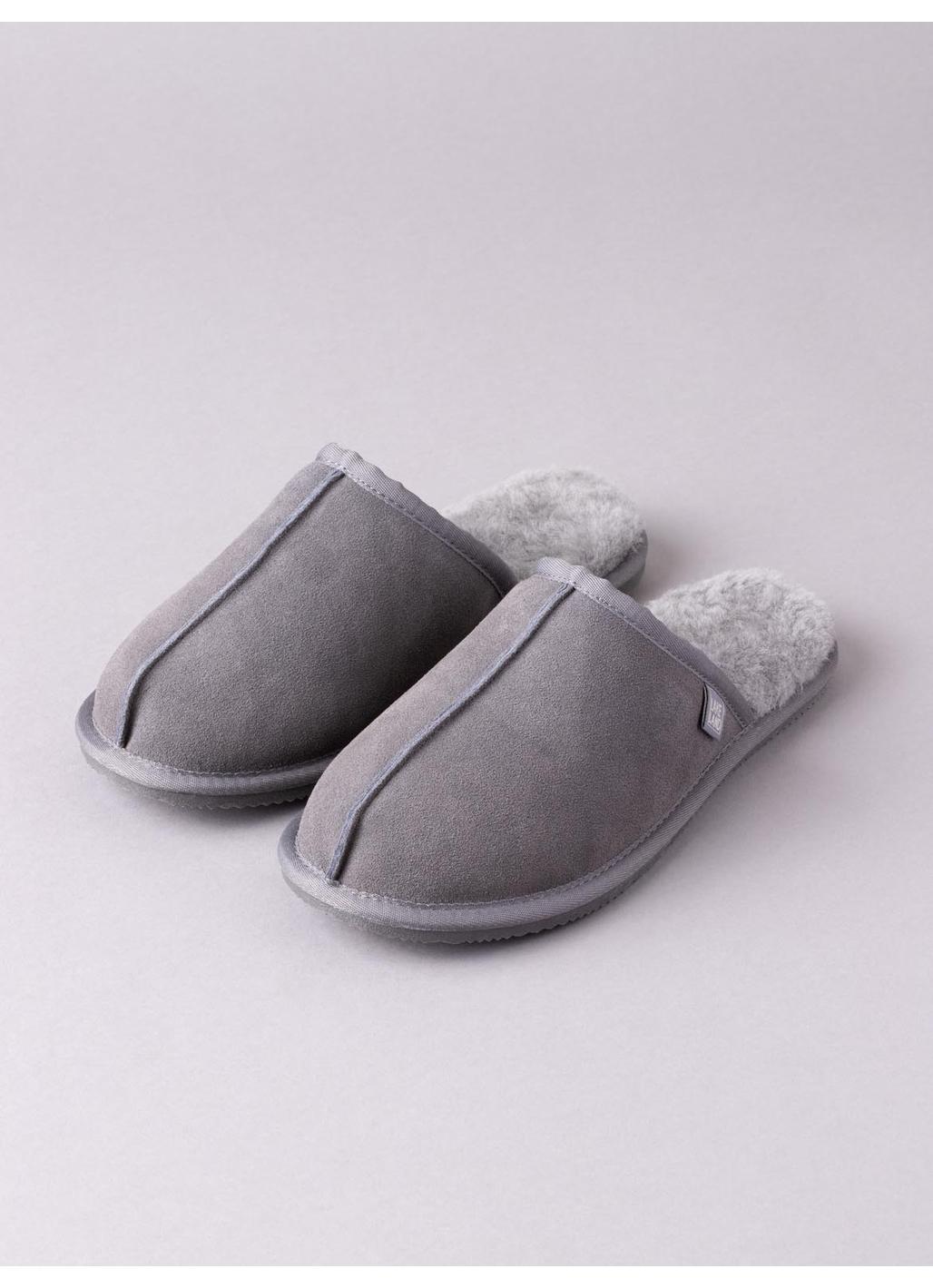 Men's Sheepskin Sliders in Grey