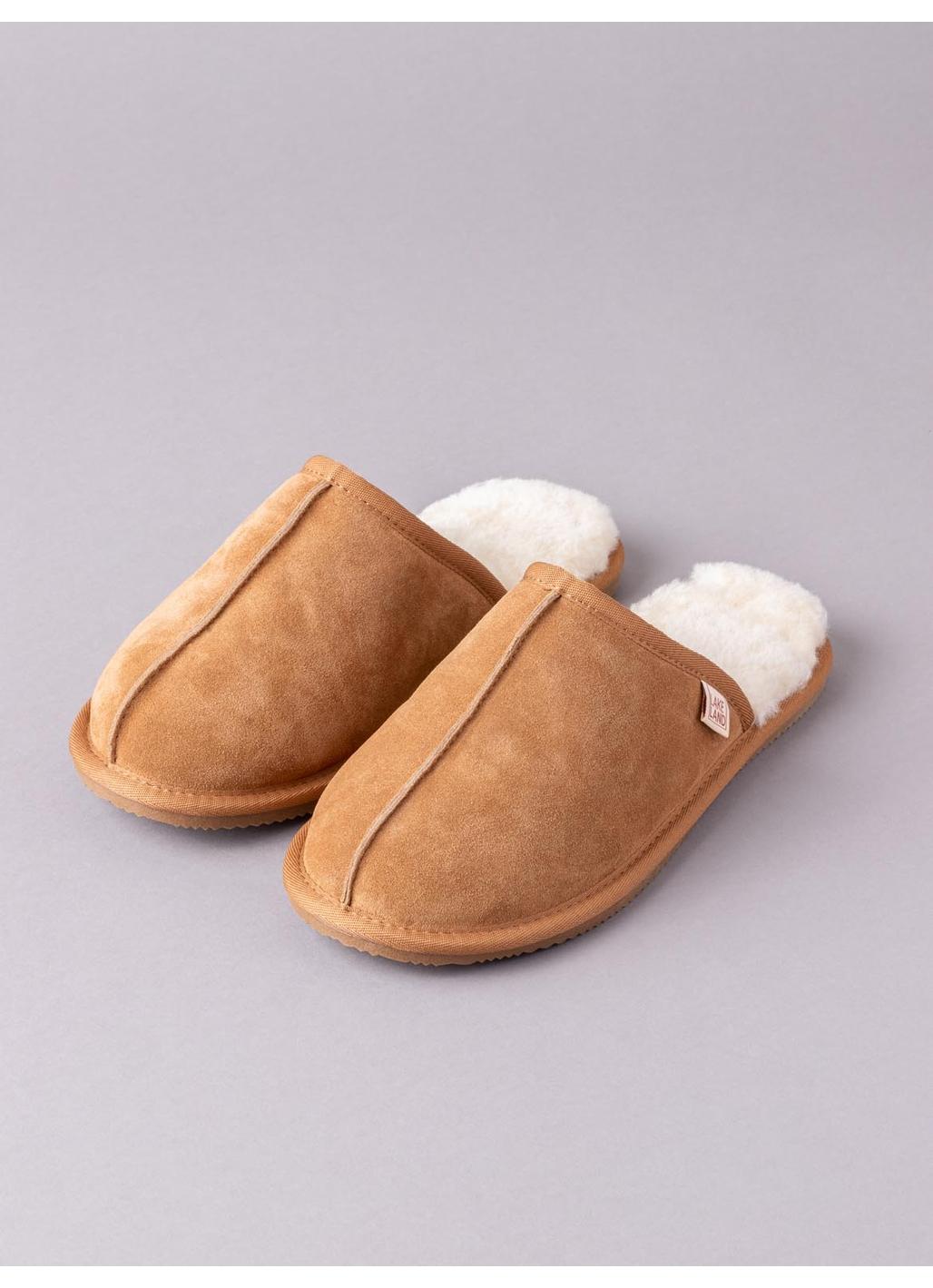 Men's Sheepskin Sliders in Tan