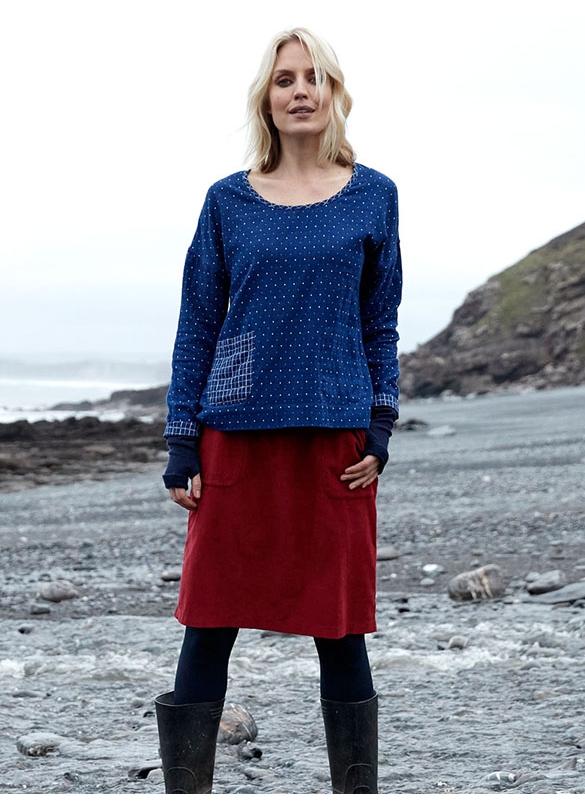 Nomads Needlecord Skirt in Fig