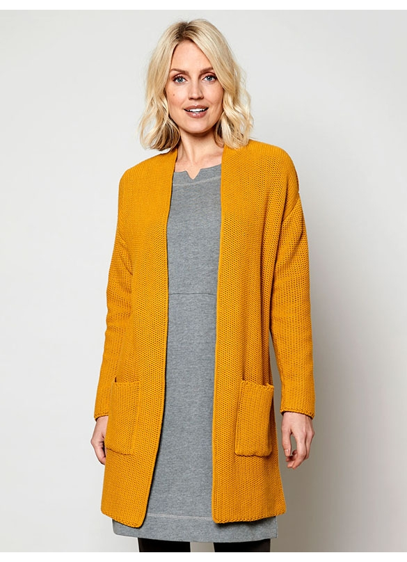 Nomads Organic Cotton Long Knitted Cardigan in Harvest