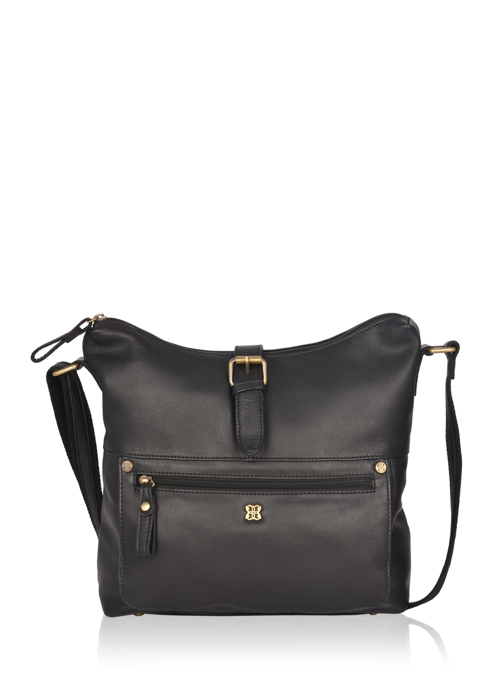 Rickerby Leather Shoulder Bag in Black