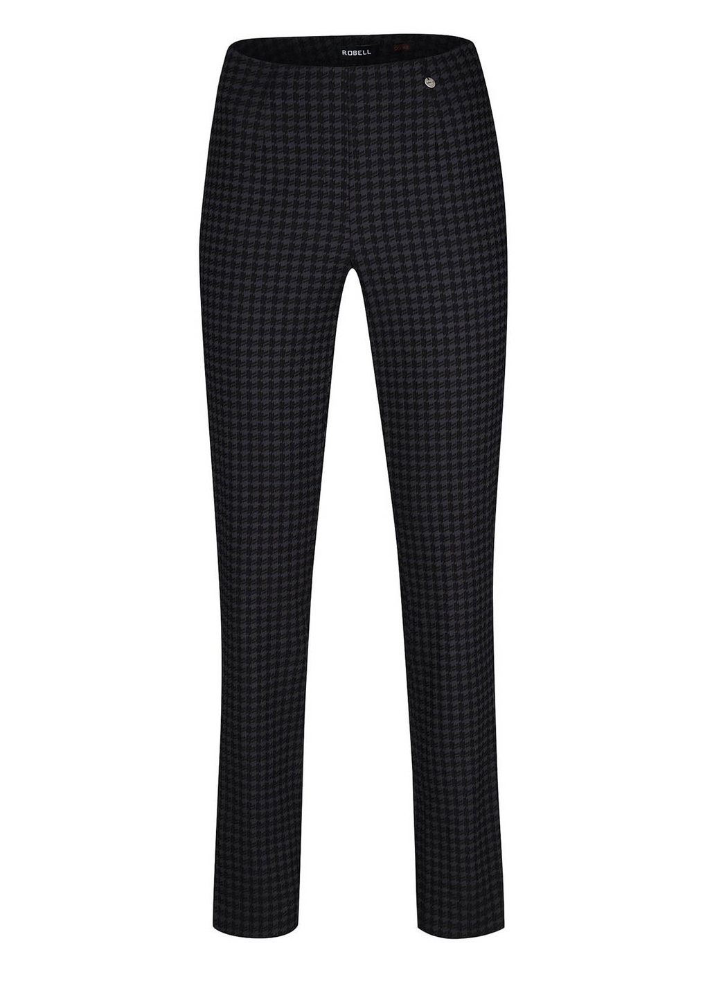 Robell Marie Houndstooth Trousers in Black