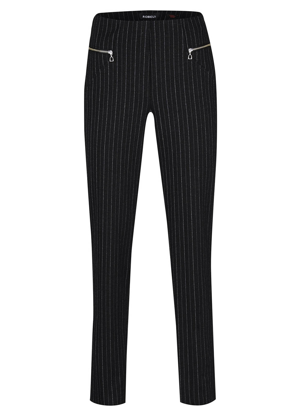 Robell Mimi Pinstripe Trousers in Anthracite