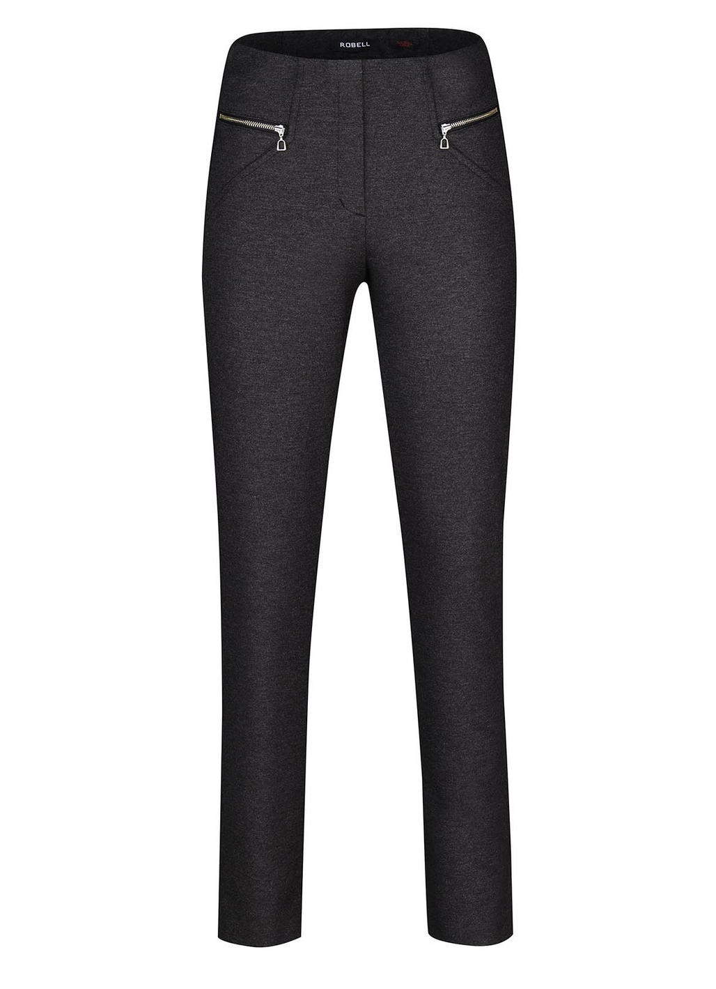 Robell Mimi Wool-Mix Trousers in Black