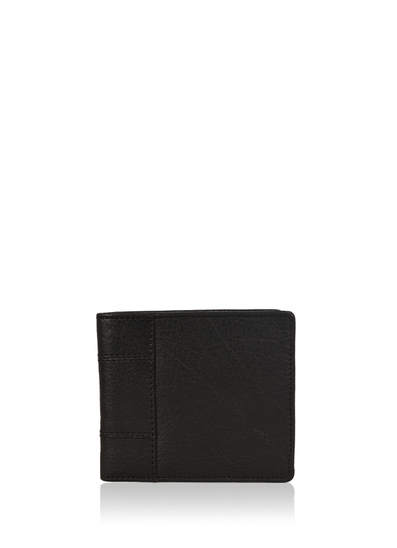 Staveley Bi-Fold Leather Wallet in Classic Black