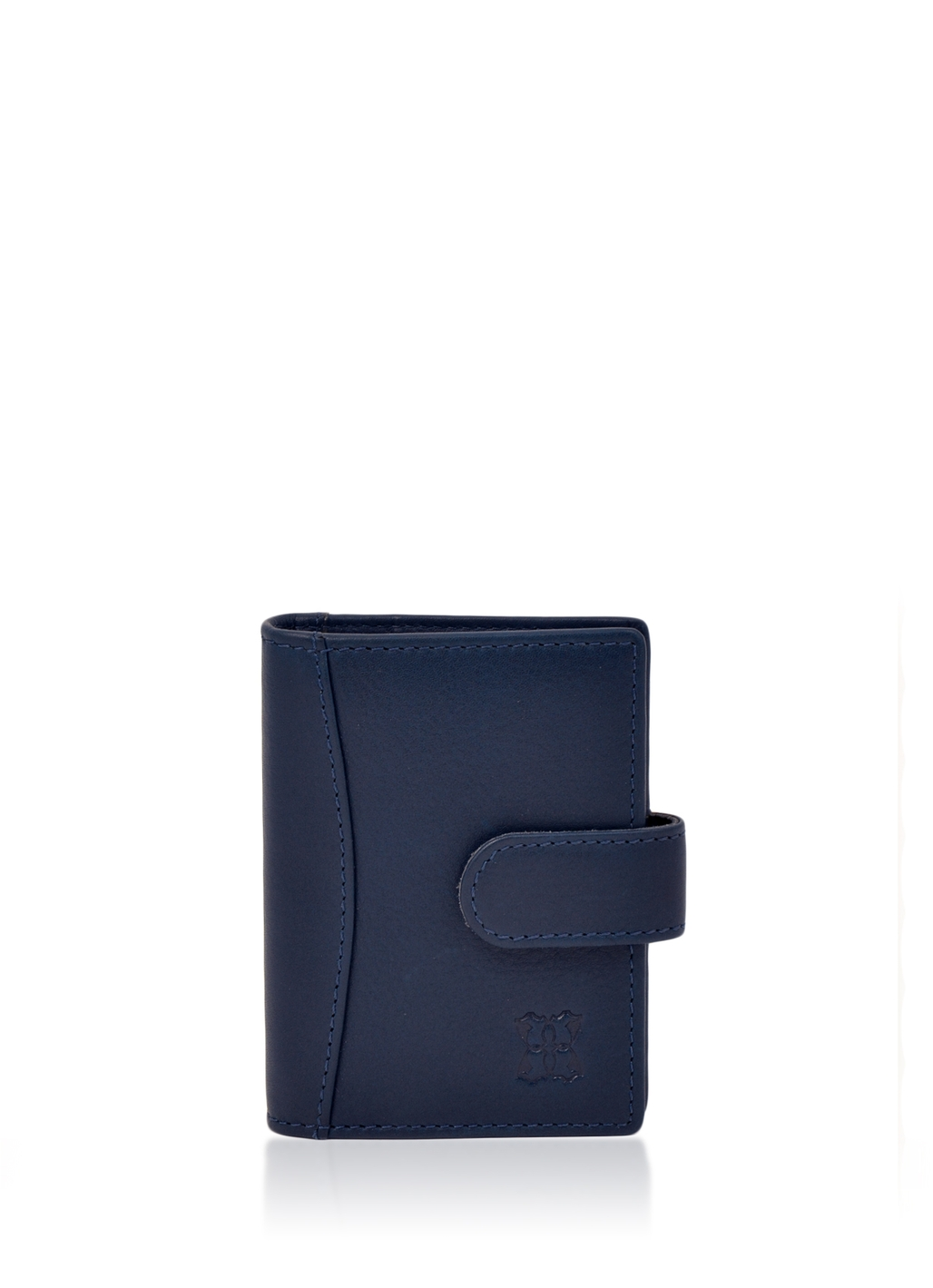 Windermere Leather Card Holder in Navy