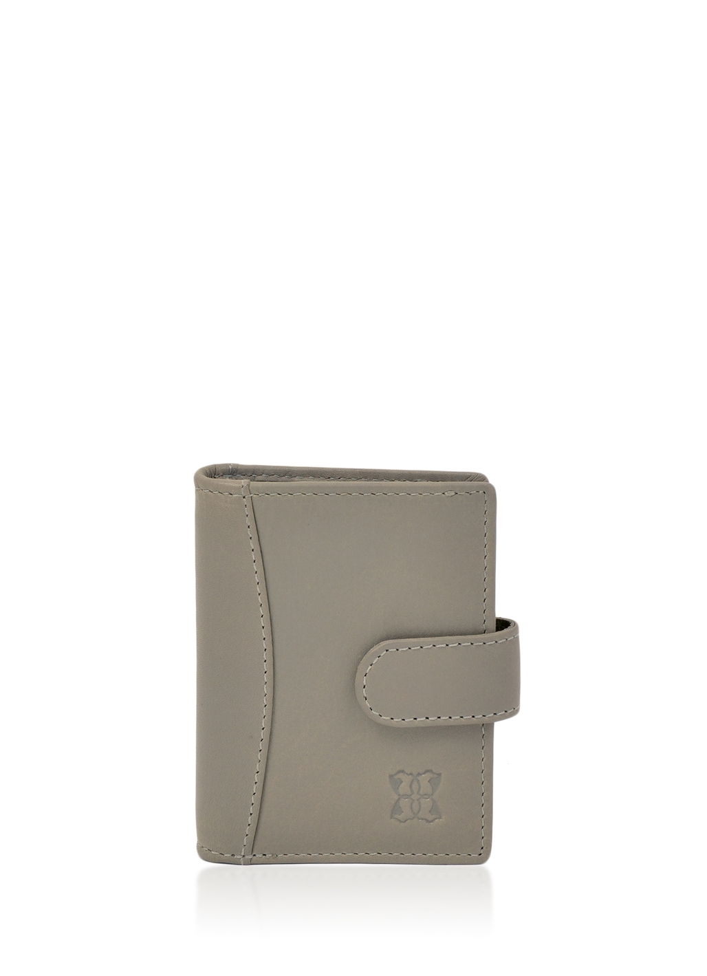 Windermere Leather Card Holder in Grey