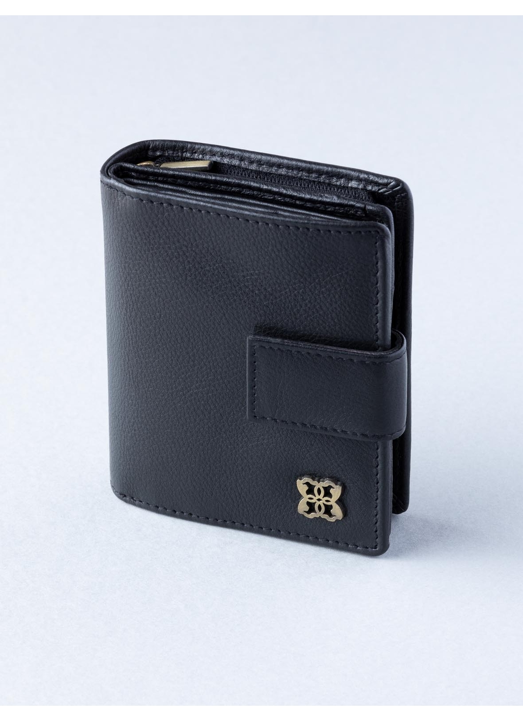 Rickerby 12cm Leather Purse in Black