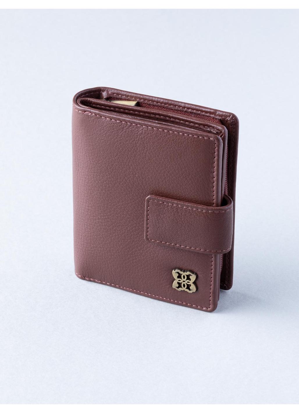Rickerby 12cm Leather Purse in Chestnut Brown
