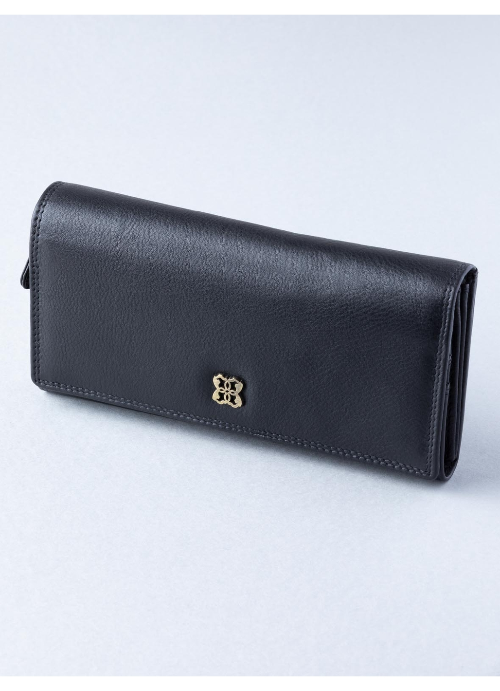 Rickerby 16cm Leather Purse in Black