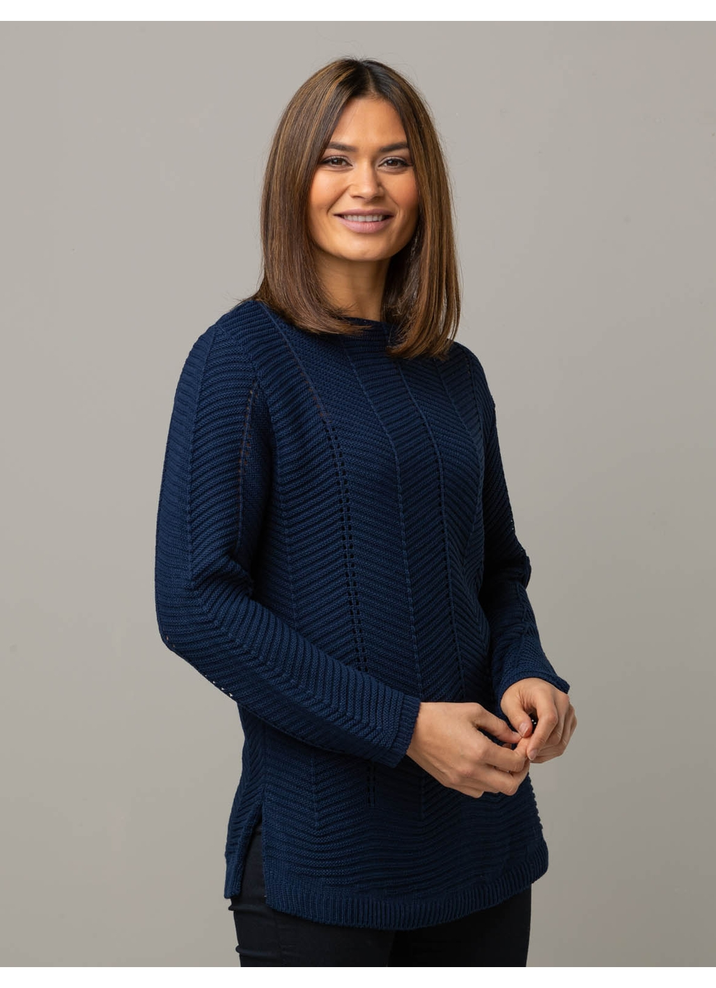 Cleo UK Knitted Jumper in Navy