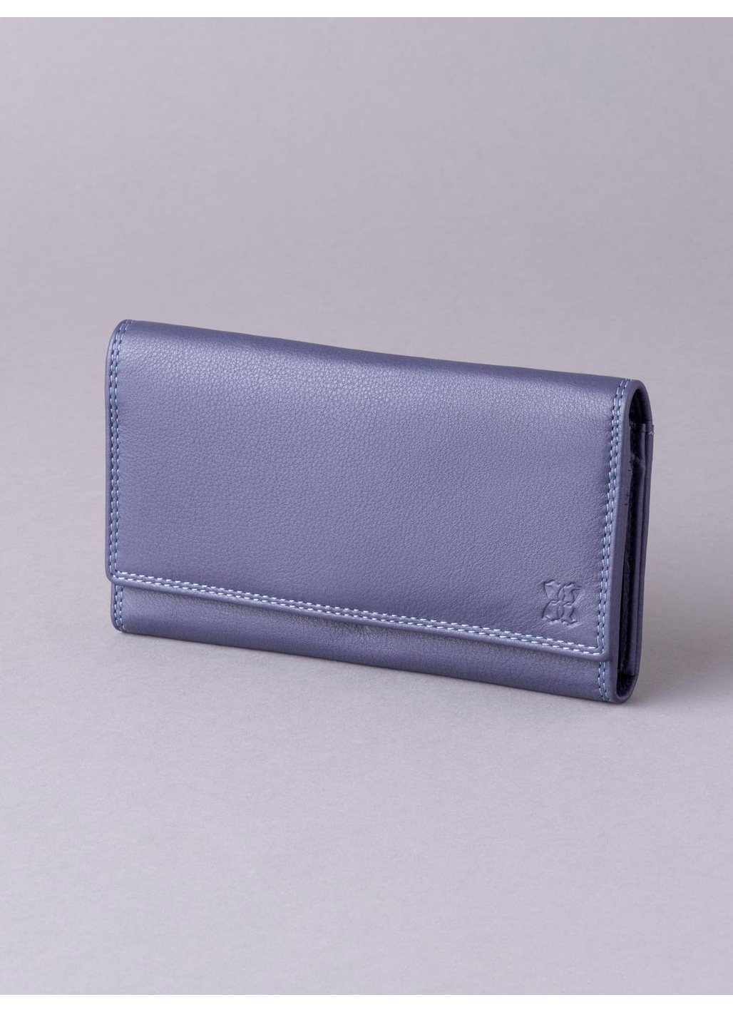 19cm Leather Purse in Purple