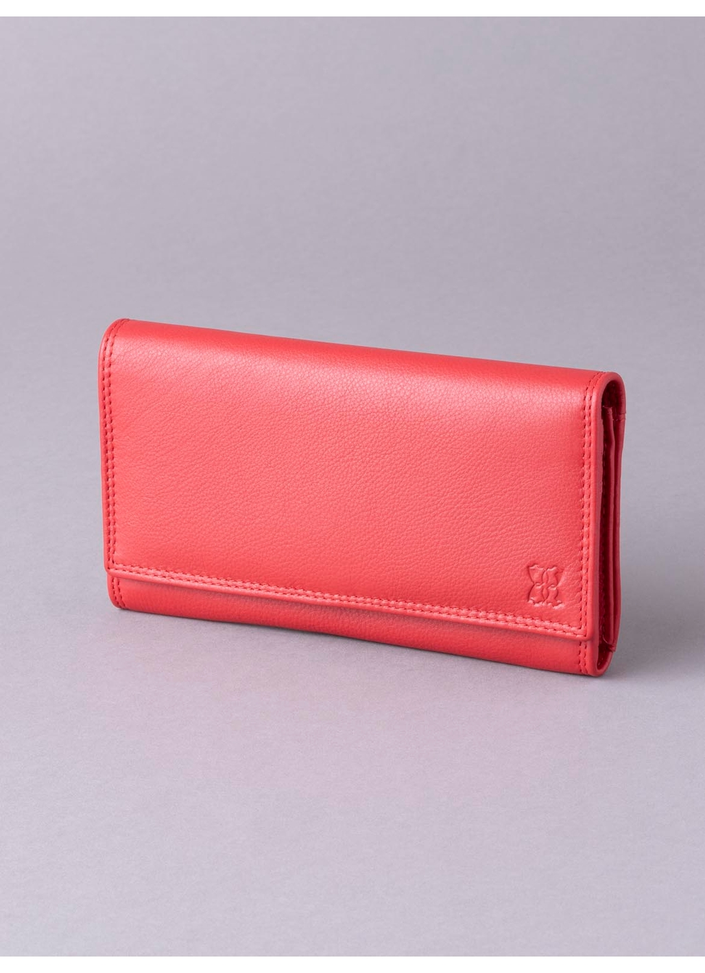 19cm Leather Purse in Red