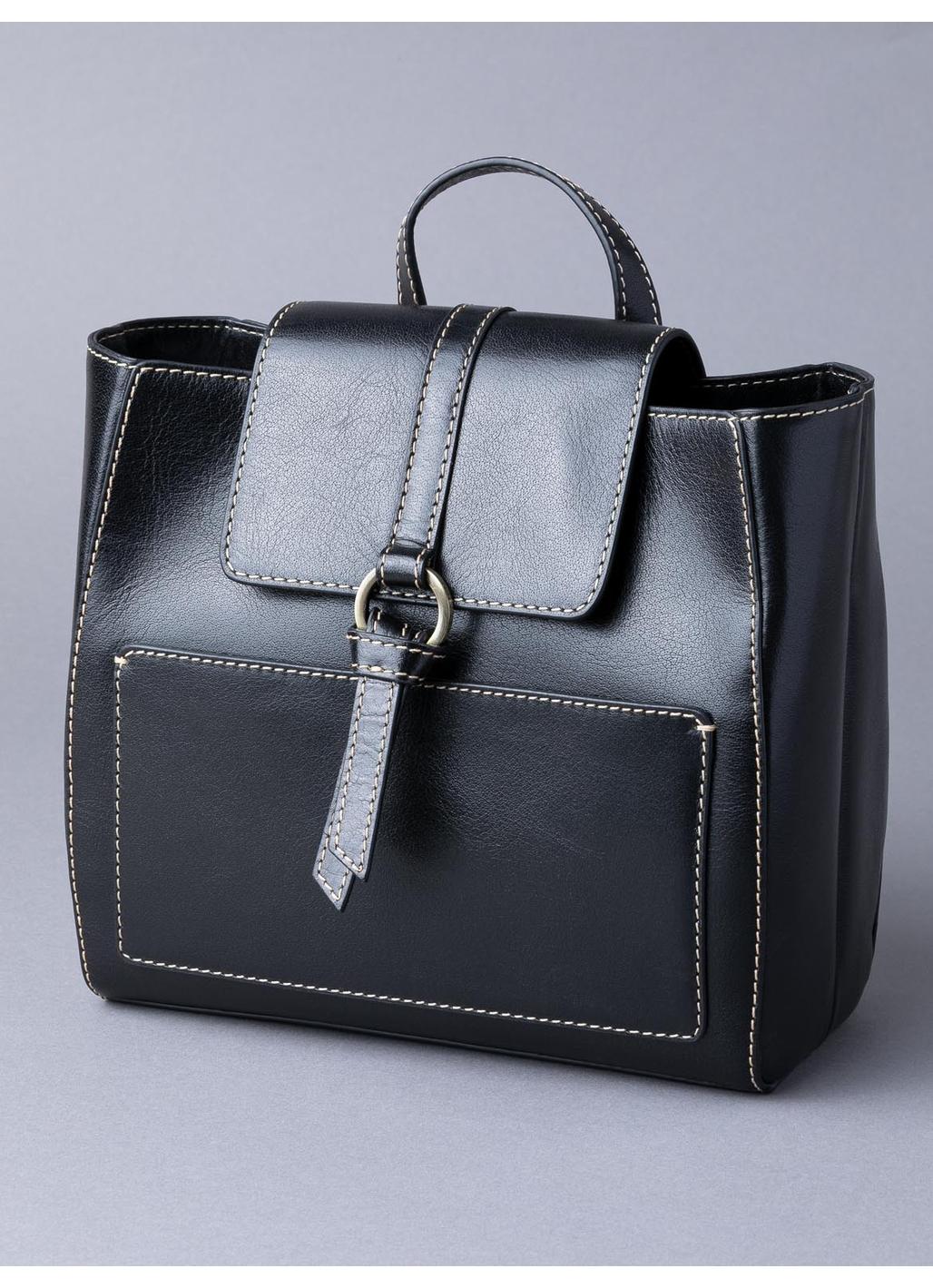 Birthwaite Leather Backpack in Black