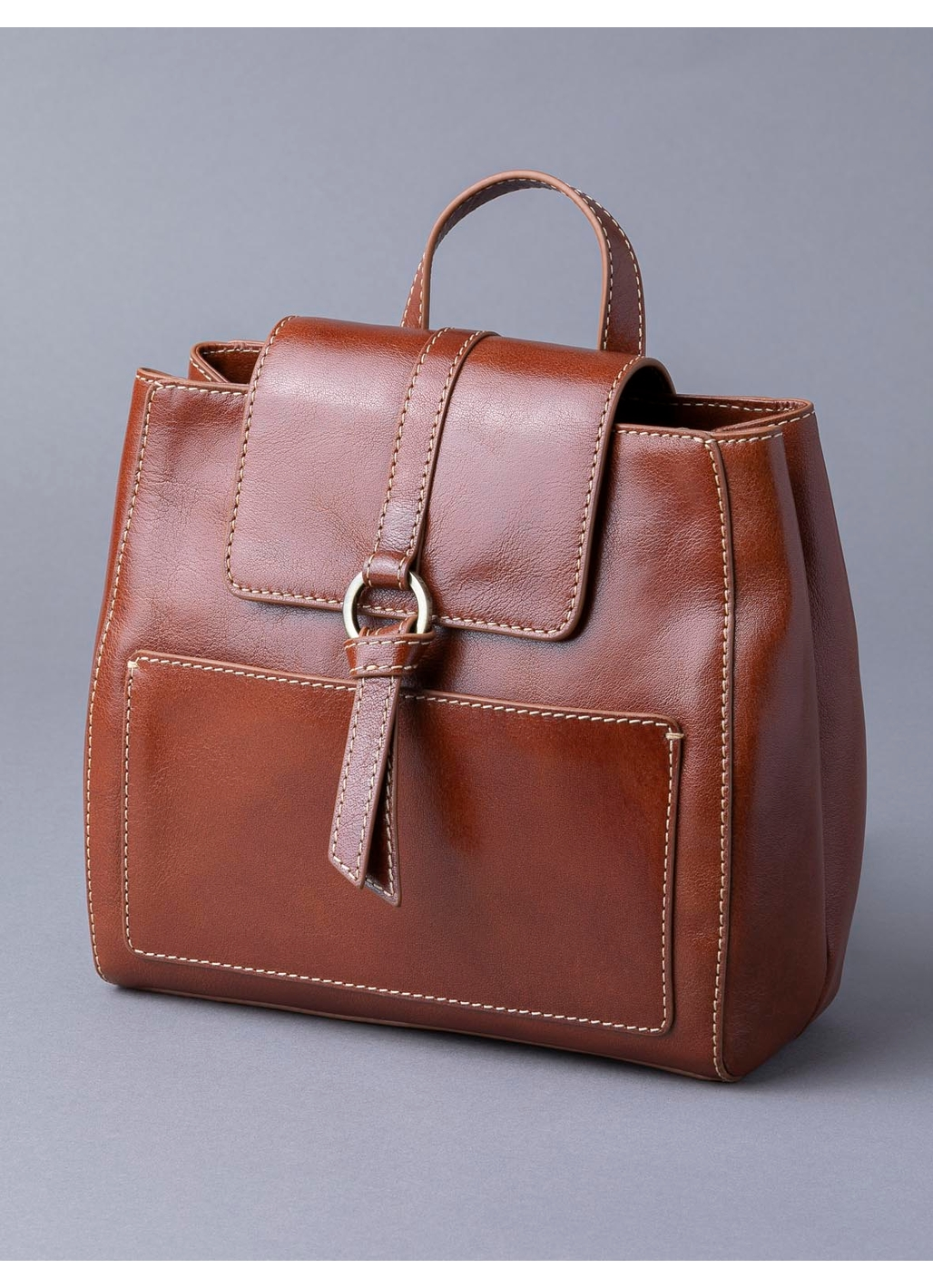 Birthwaite Leather Backpack in Cognac