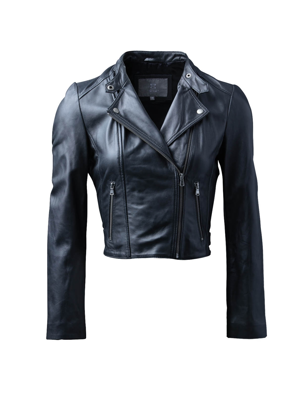 Glebe II Leather Biker Jacket in Black