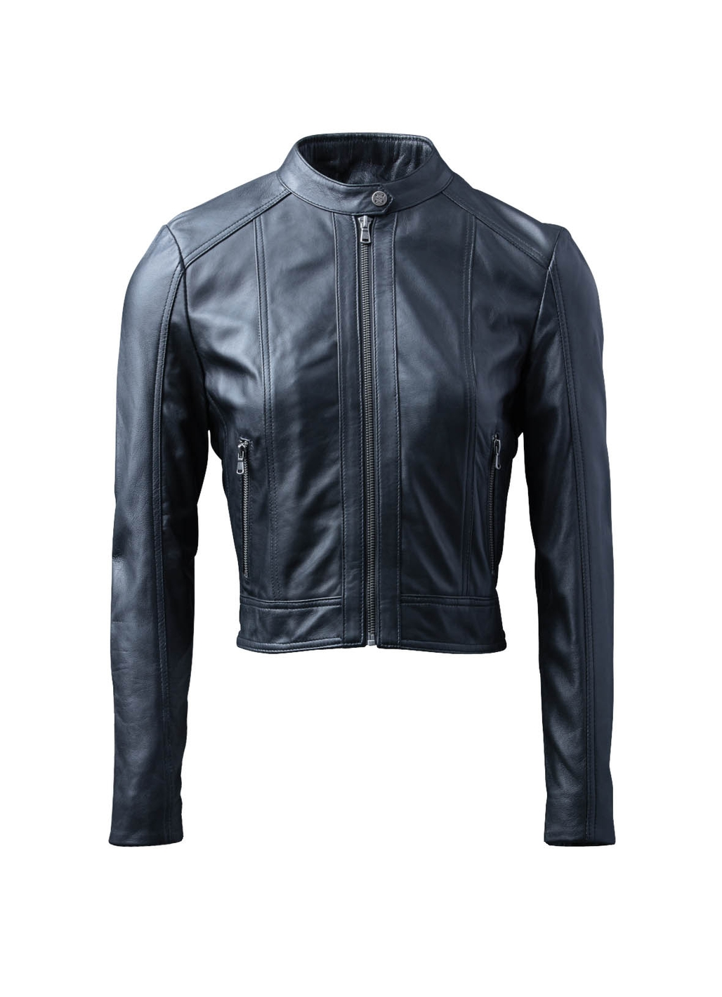 Loweswater II Leather Racer Jacket in Black