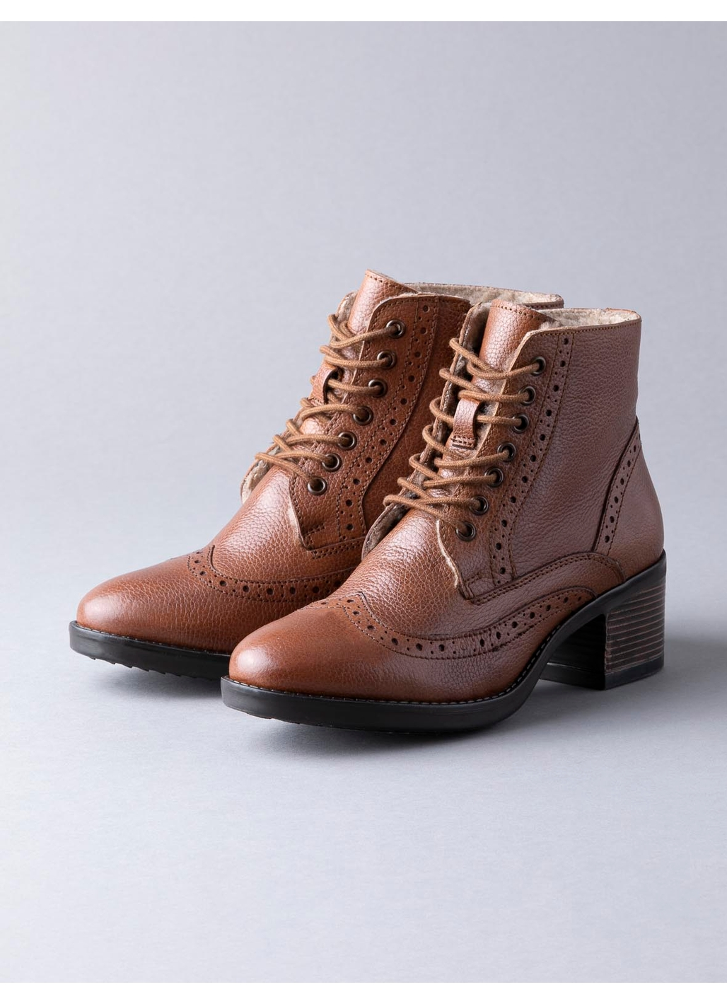 Lotus Amira Leather Ankle Boots in Tan