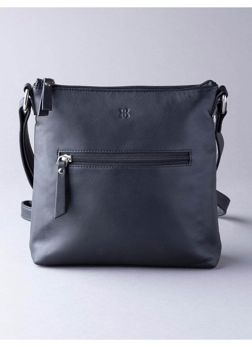 Tally Leather Cross Body Bag in Black