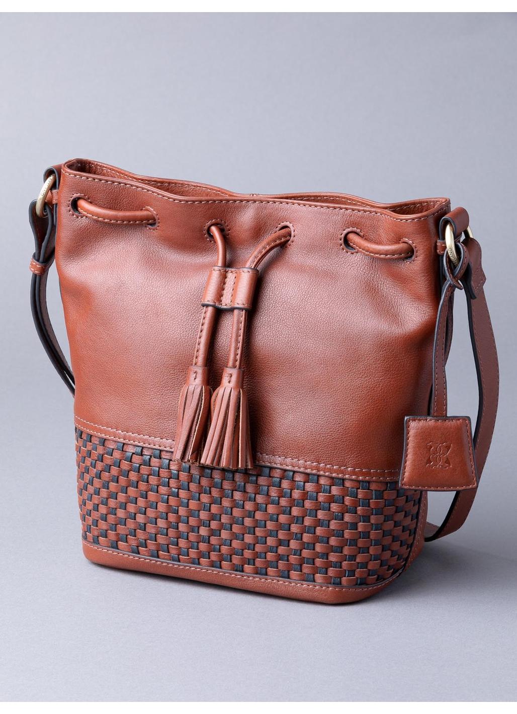 Waverton Leather Duffle Bag in Cognac
