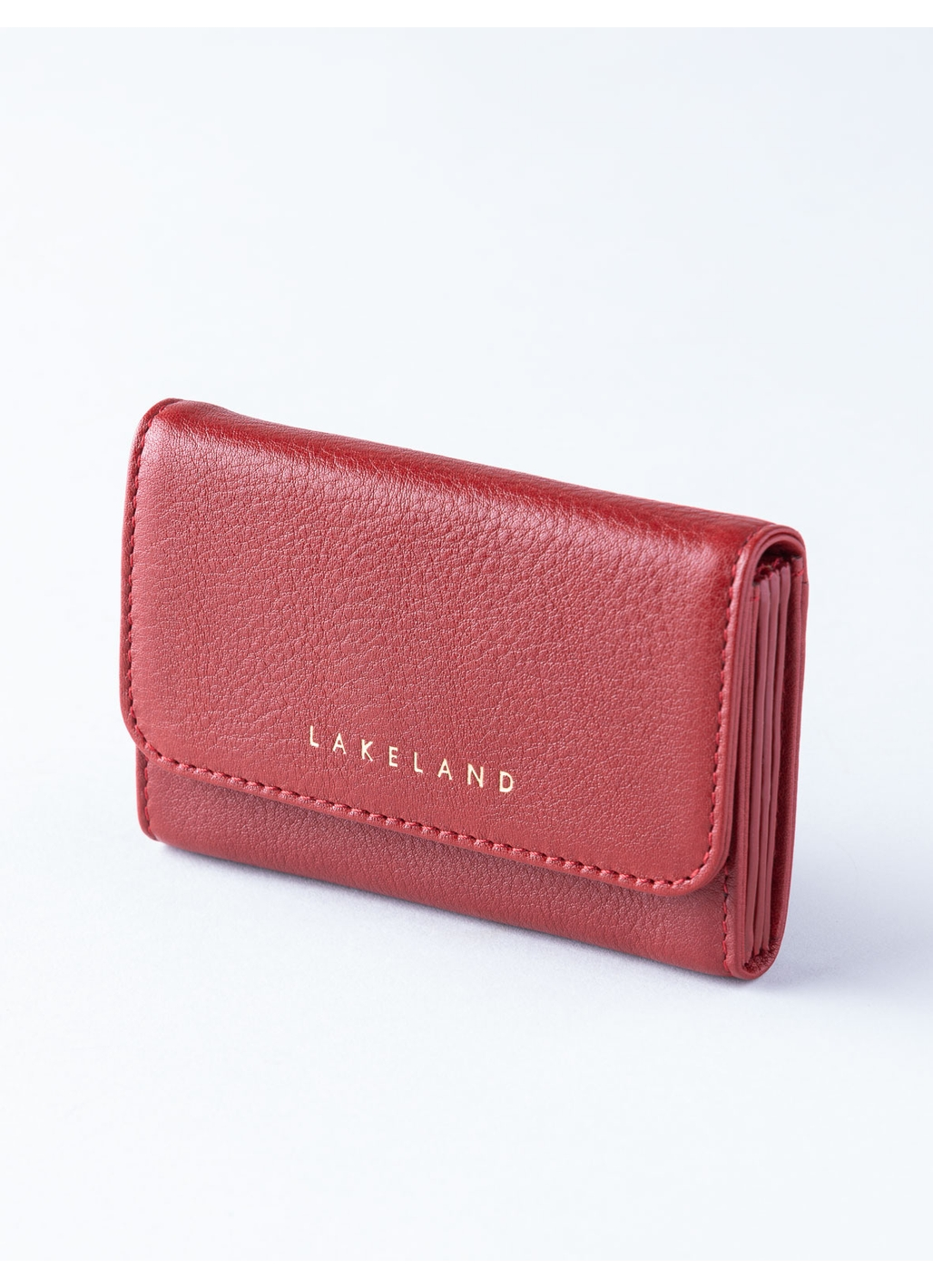 Wray Leather Fan Cardholder in Red