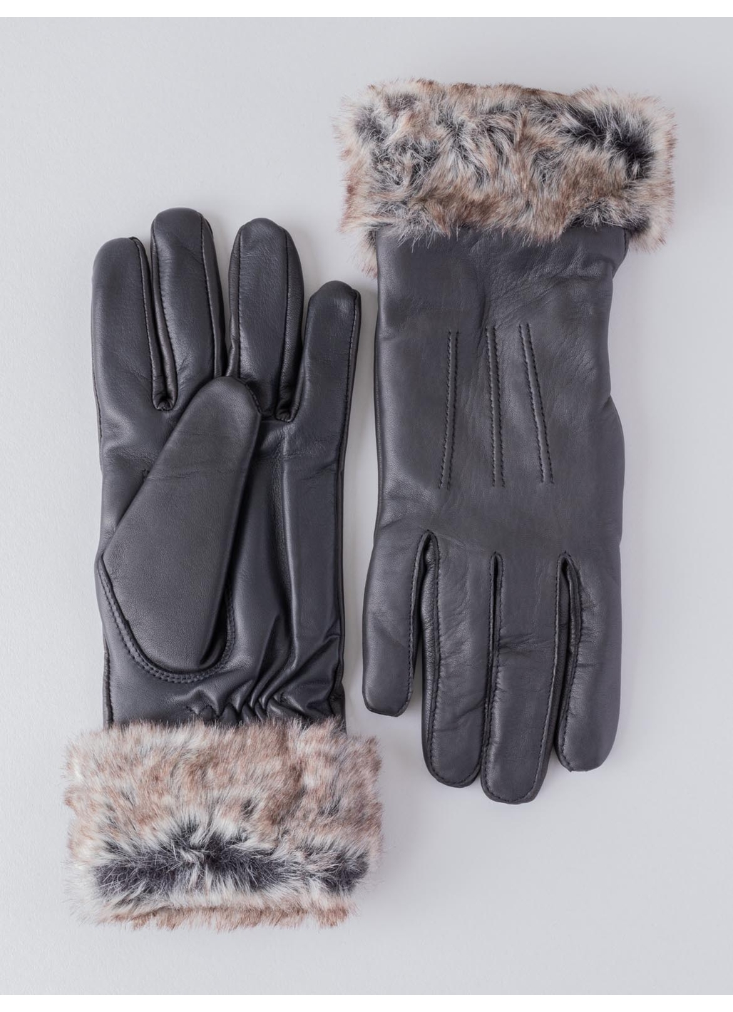 Holly Leather Gloves in Black