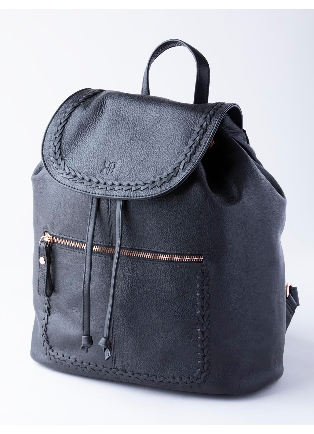 Evie Leather Backpack in Black