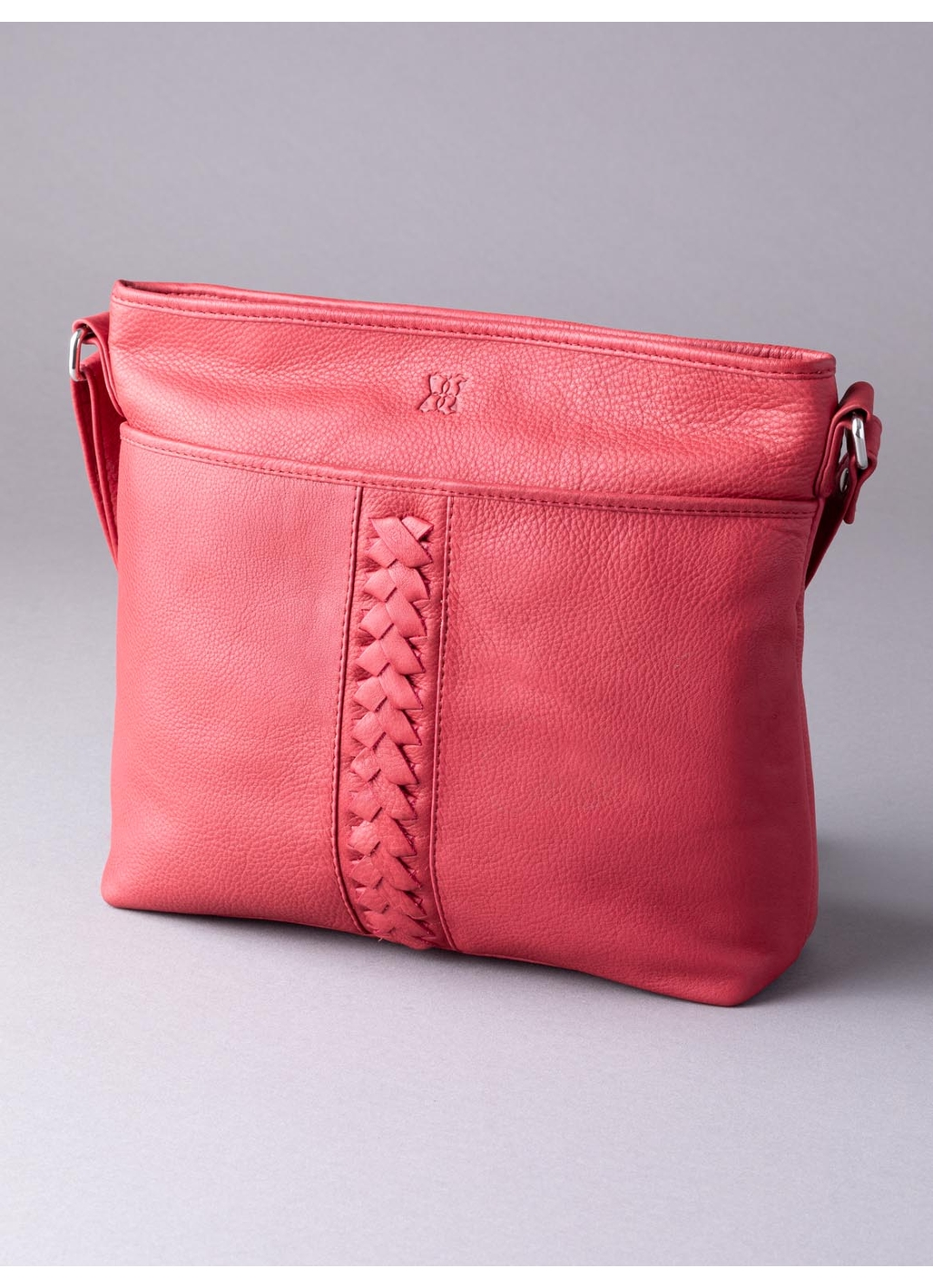 Farlam Leather Cross Body Bag in Red