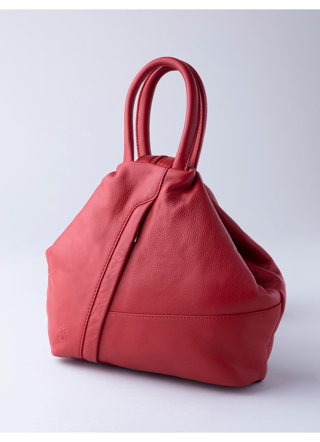 Juliet Leather Backpack in Red