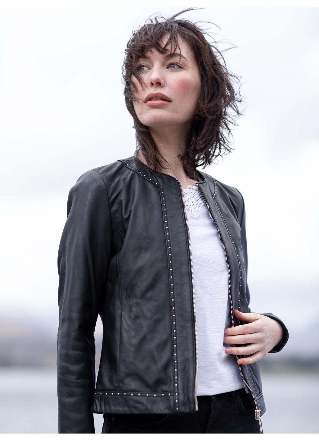 Matterdale Leather Jacket in Black
