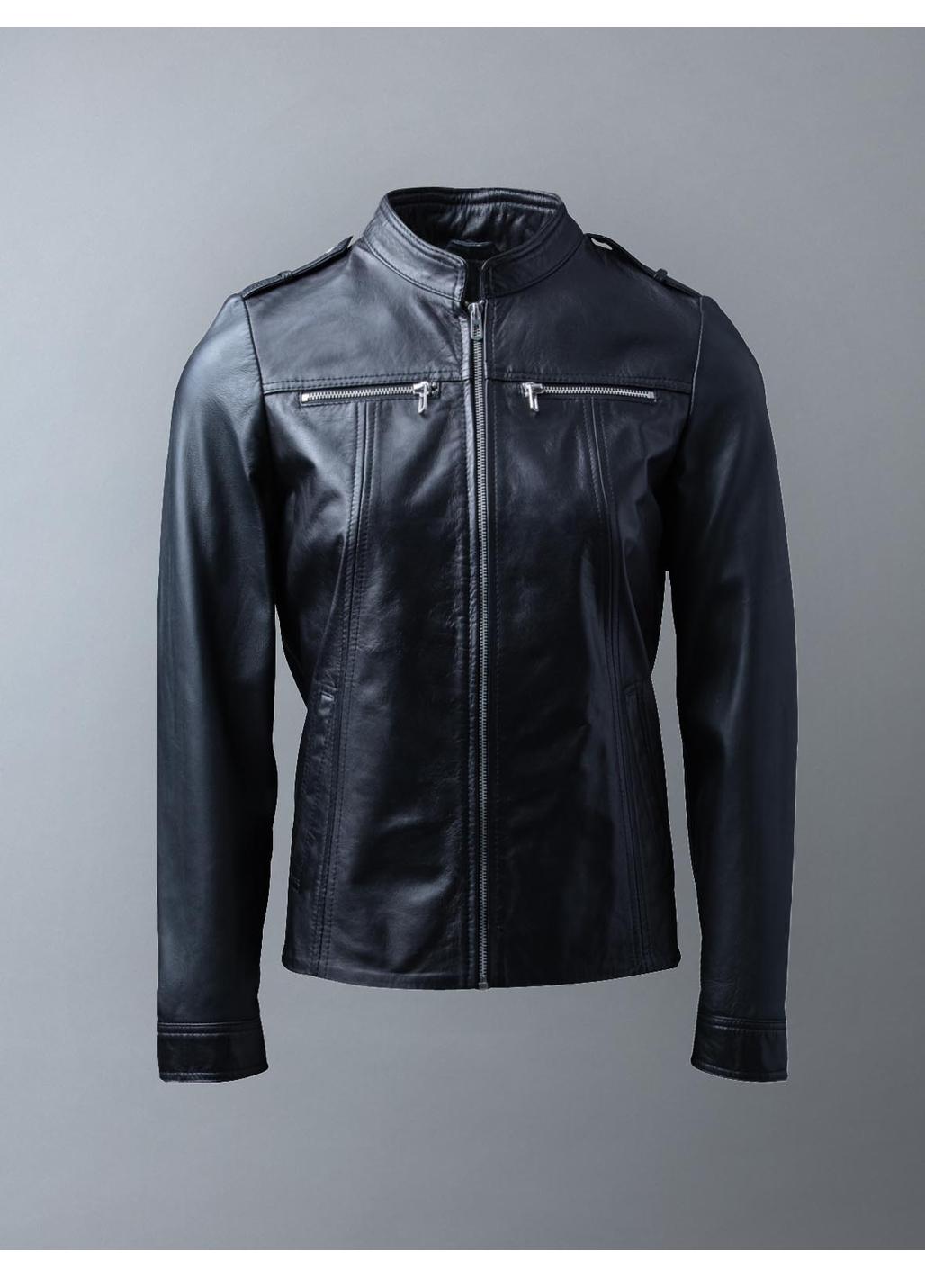 Tarn Leather Jacket in Black