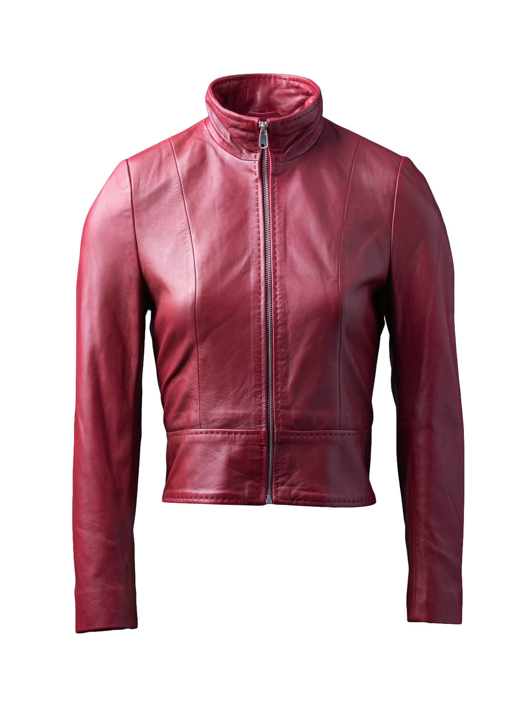 Lin Leather Jacket in Red