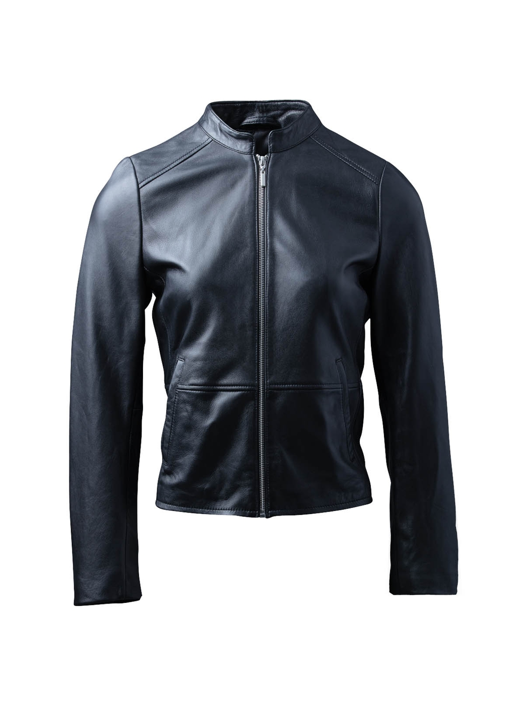 Lingmoor Leather Jacket in Black