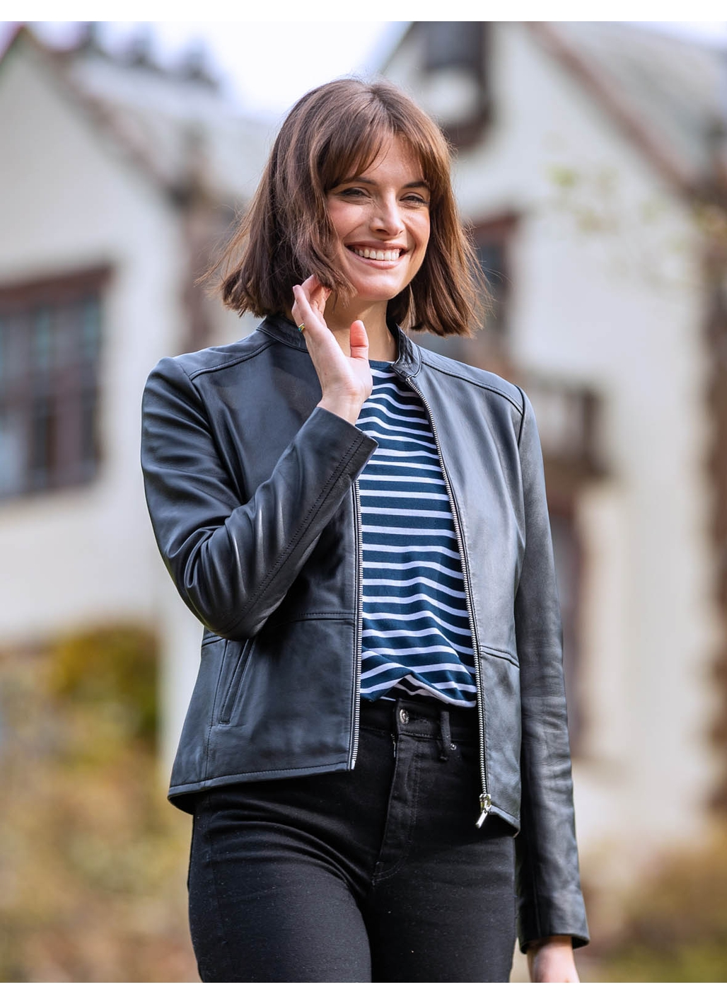 Lingmoor Leather Jacket in Black