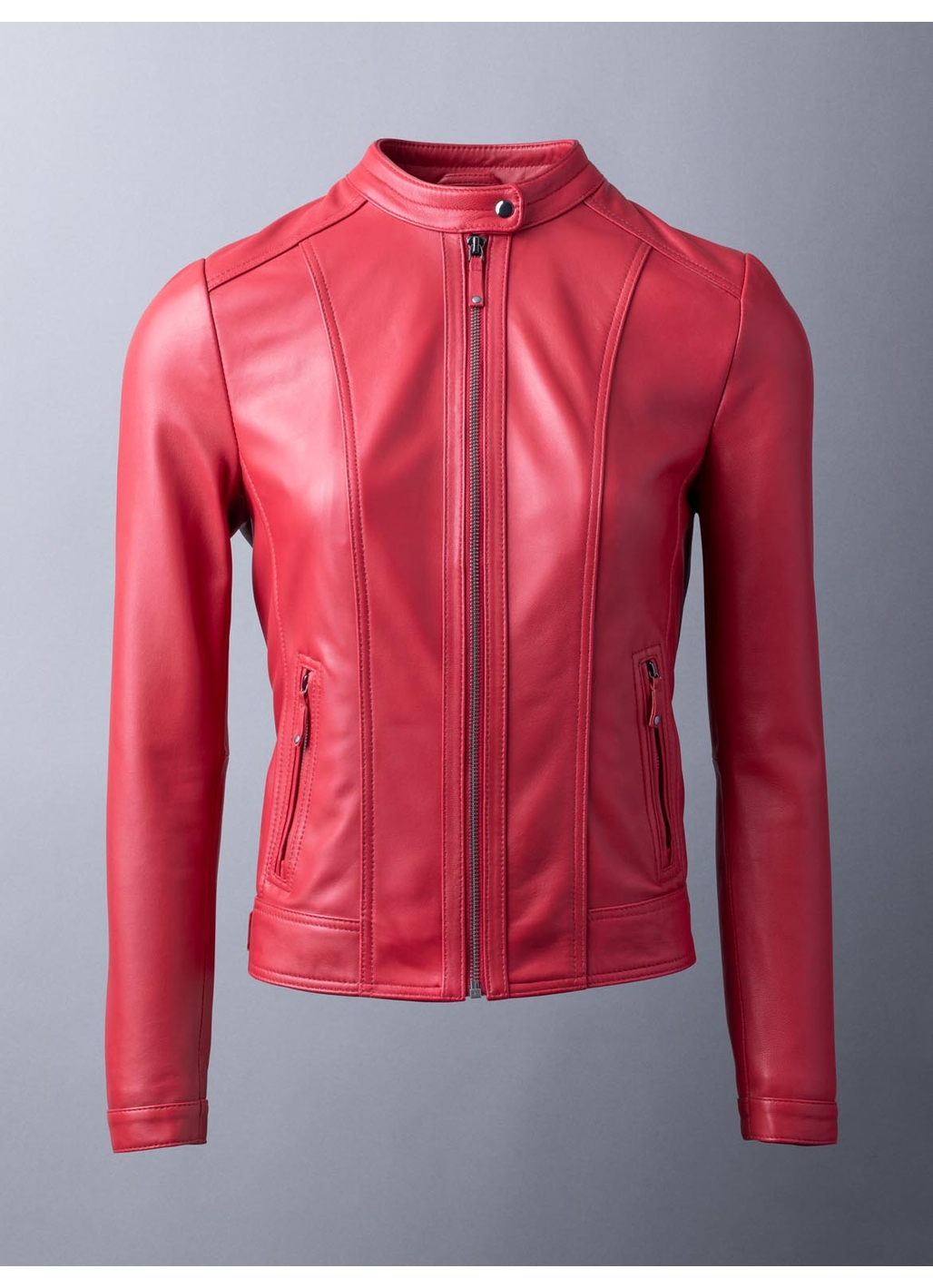 Thorpe Leather Jacket in Red