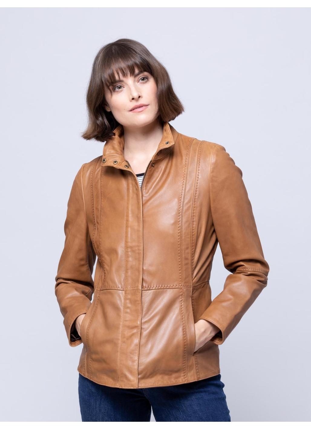 Mardale Leather Jacket in Tan