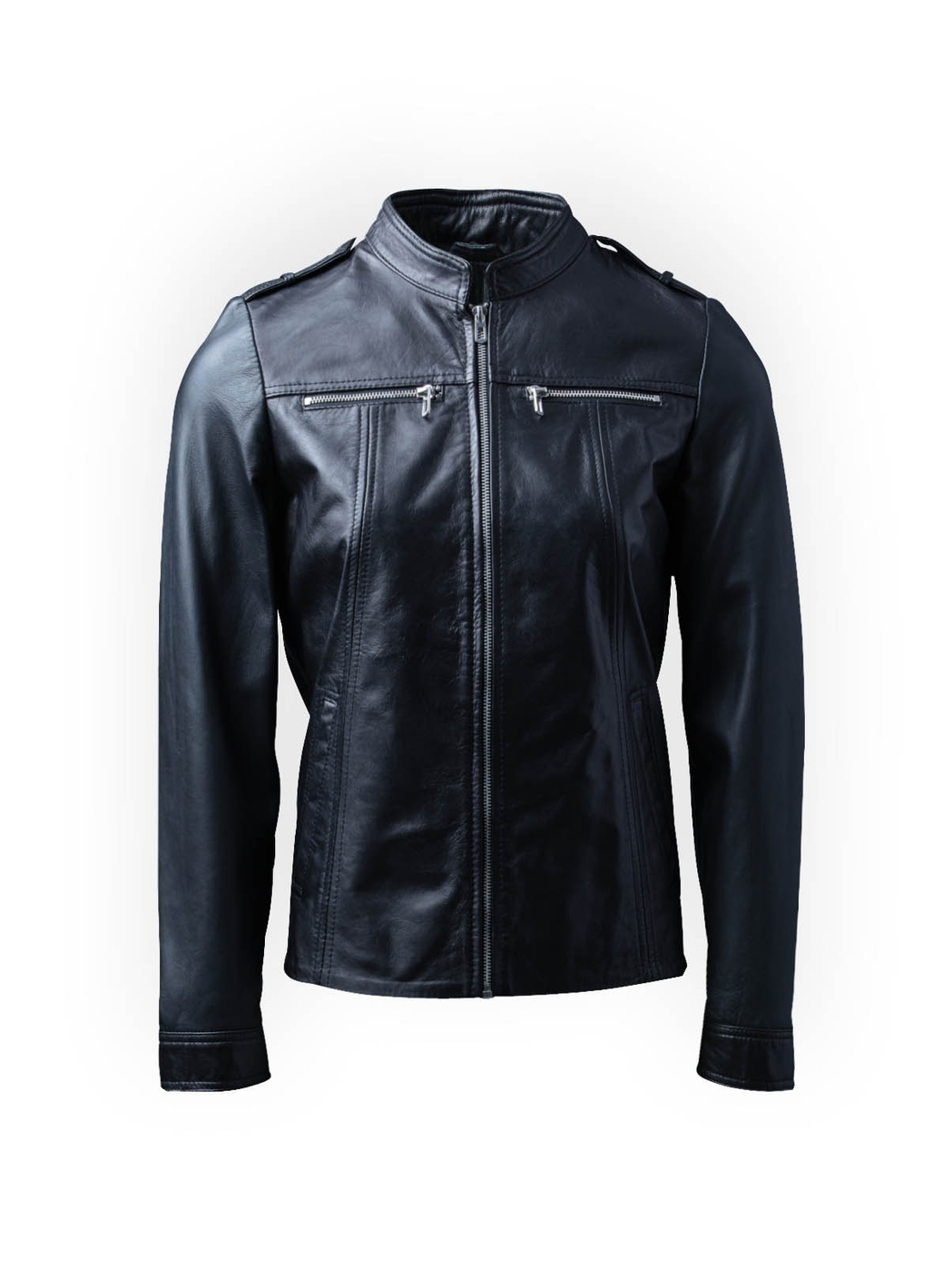 Tarn Leather Jacket in Black
