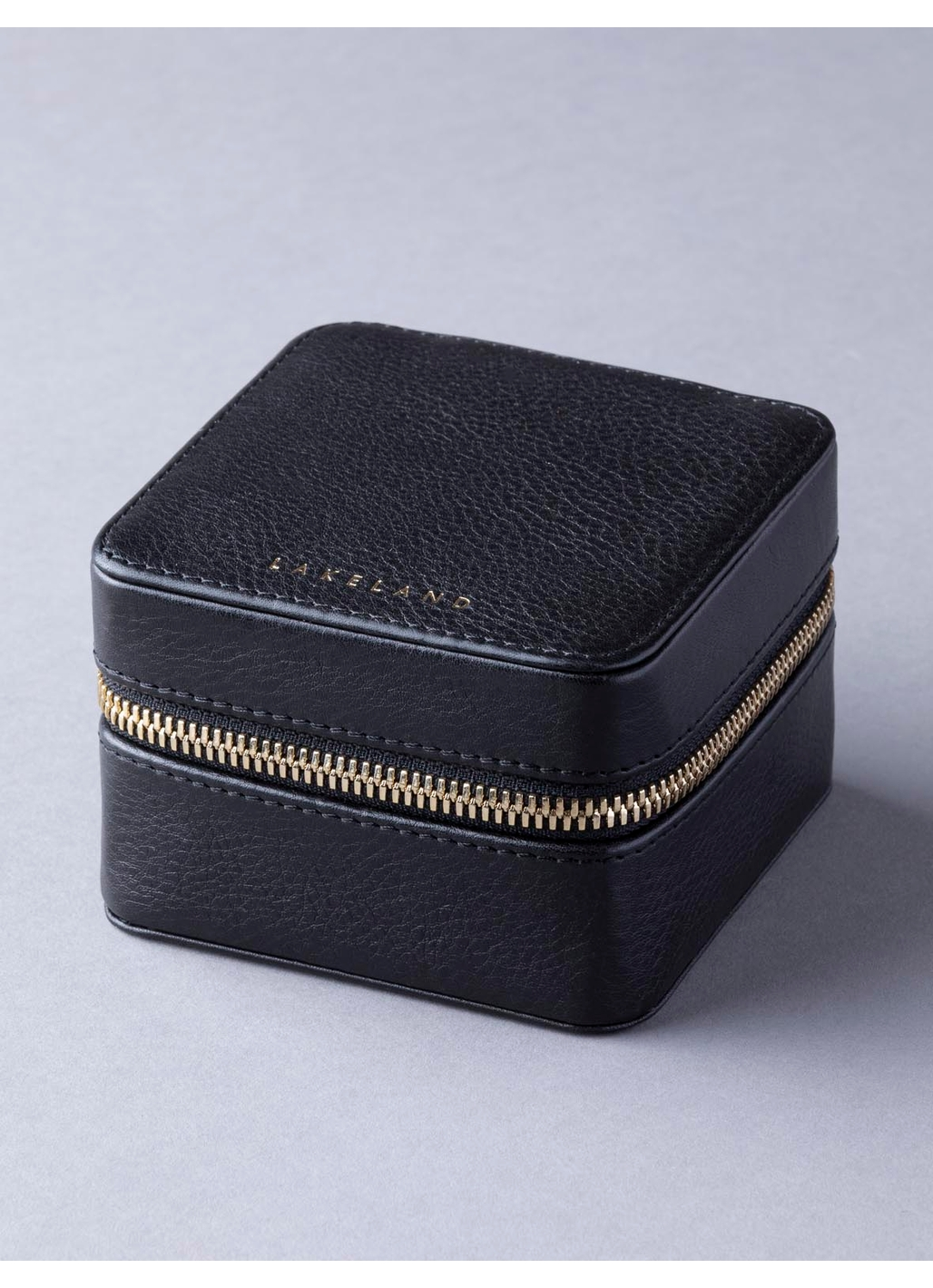Wray Leather Jewellery Box in Black