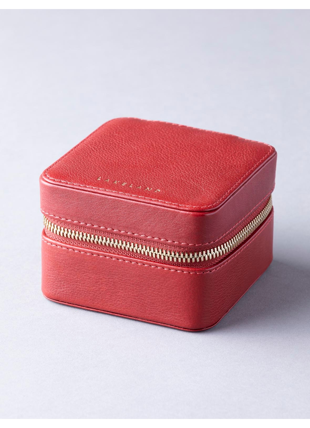 Wray Leather Jewellery Box in Red