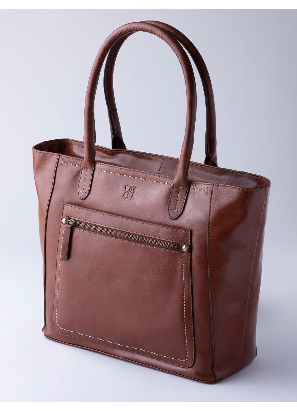 Arnside Large Leather Shoulder Bag in Tan
