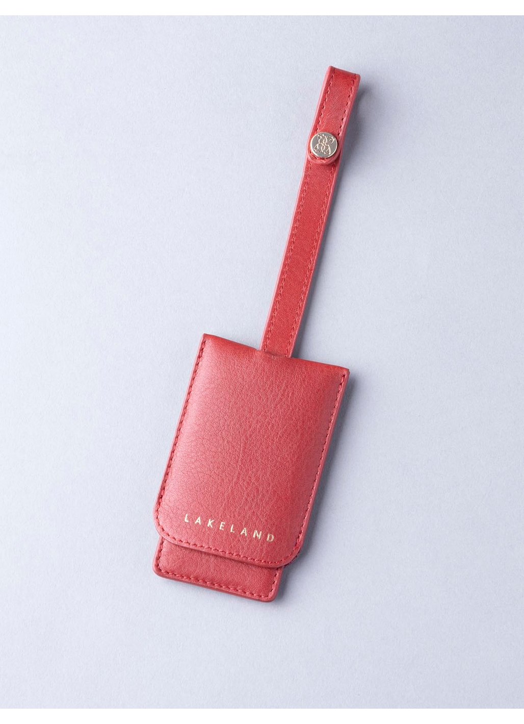 Wray Leather Mirror Key Ring In Red