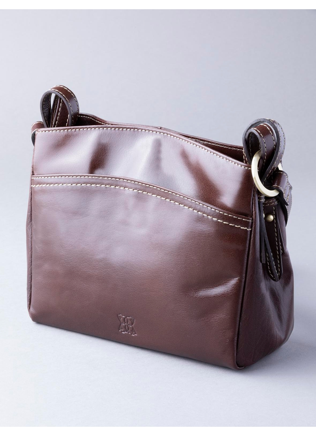 Bowness Leather Organiser Bag in Brown