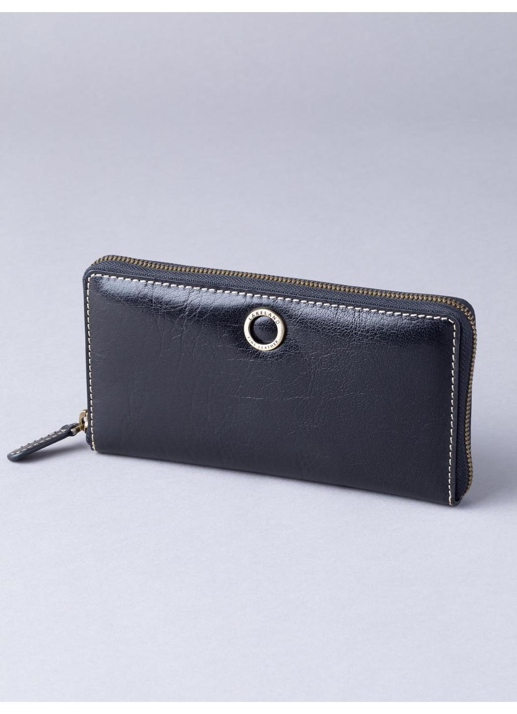 Birthwaite Leather Purse in Black