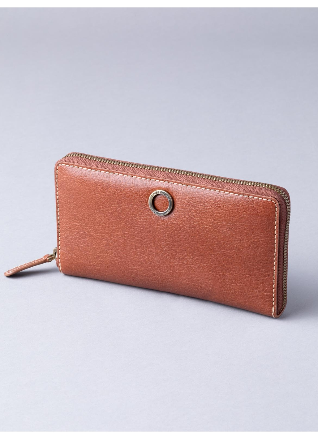 Birthwaite Leather Purse in Cognac