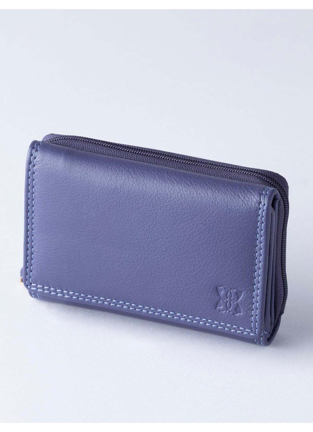 12.5cm Leather Purse in Purple