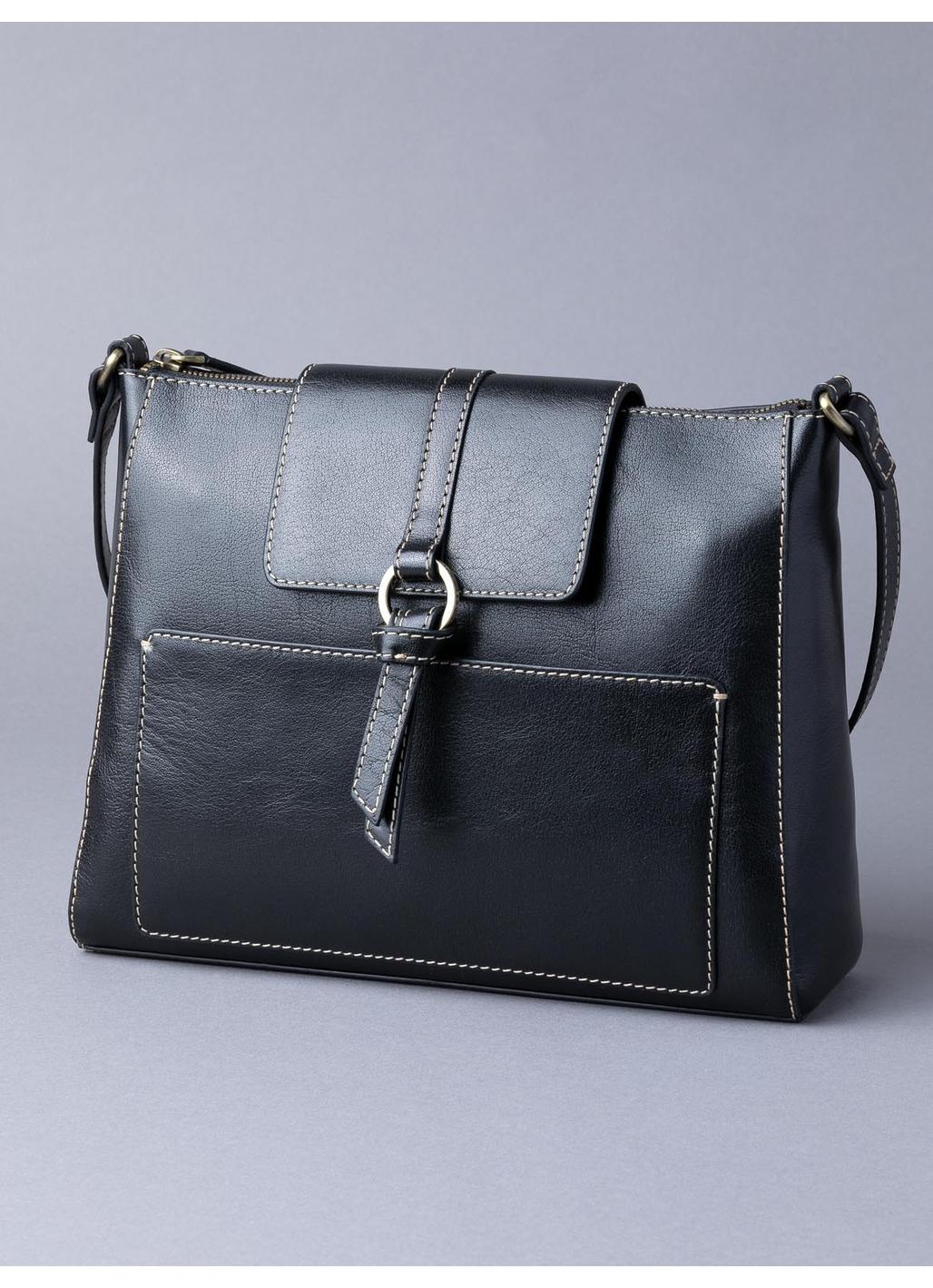 Birthwaite Leather Shoulder Bag in Black
