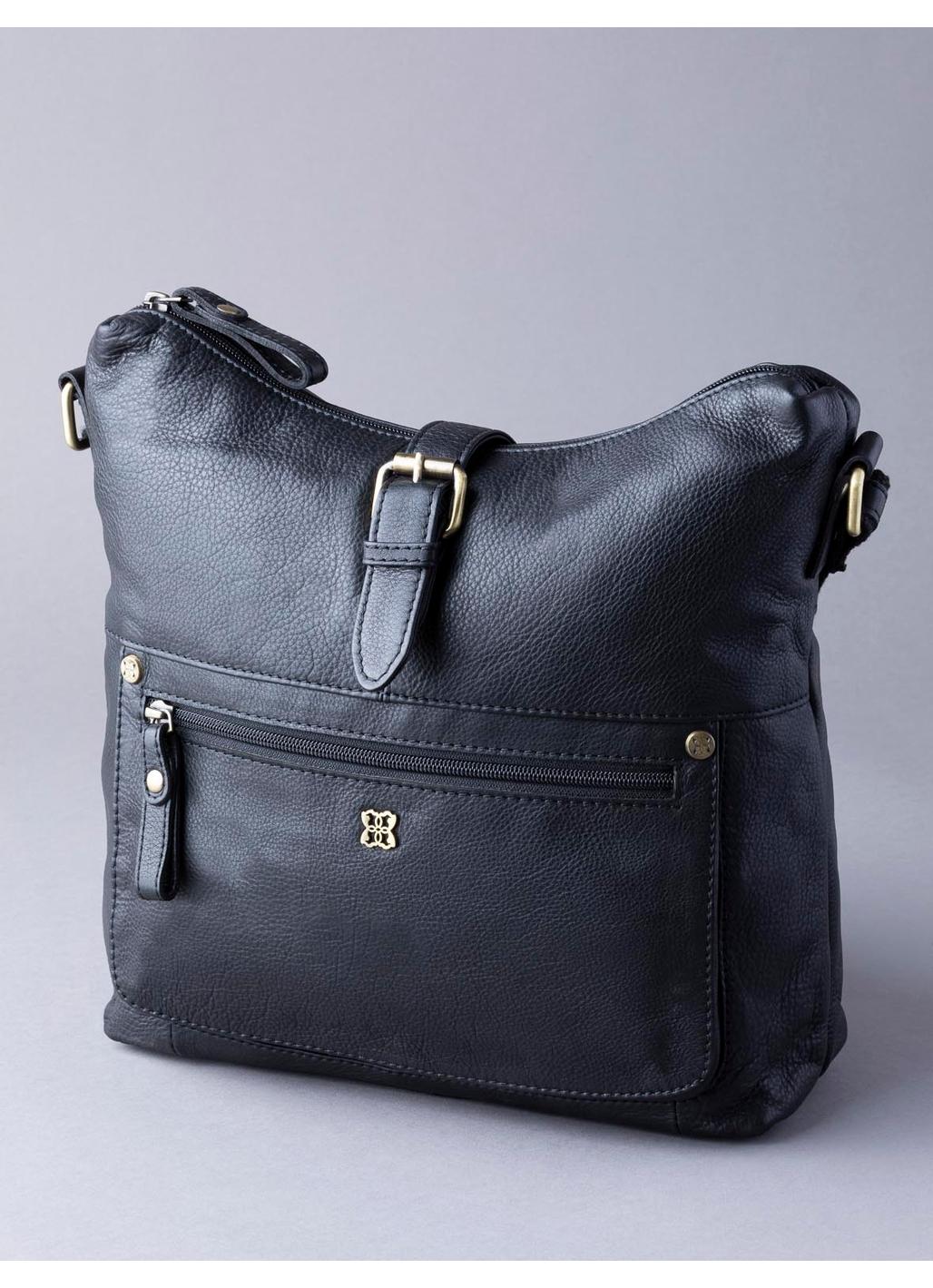 Rickerby Leather Shoulder Bag in Black