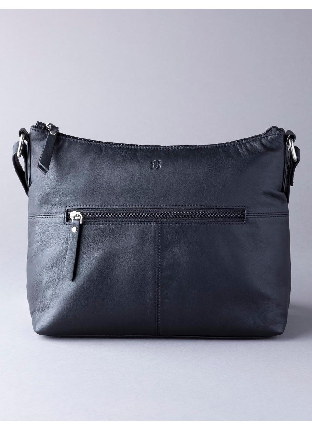 Tally Leather Shoulder Bag in Black